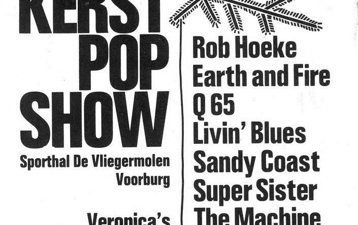 Earth and Fire Aankondiging Kerstpopshow 1966 Vliegermolen